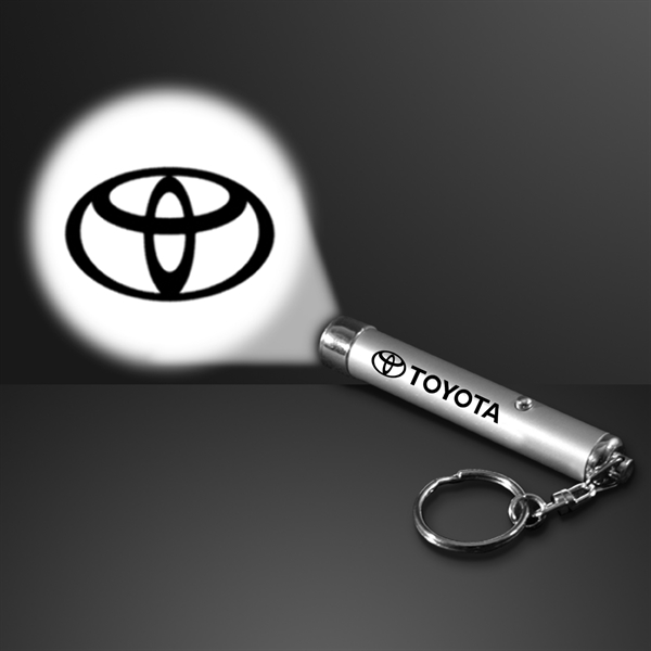 Logo projection keychain
