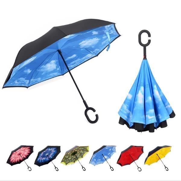 Double Layer Folding Inverted Umbrella