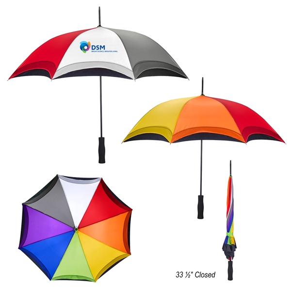 "46"" Arc Rainbow Umbrella"