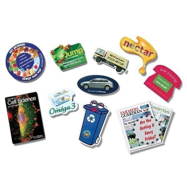 Magnets 4in Sq - 20 mil Custom Shape fridge / cabinet magnet