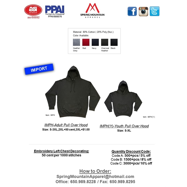 Youth Heavy Weight Pullover Hood