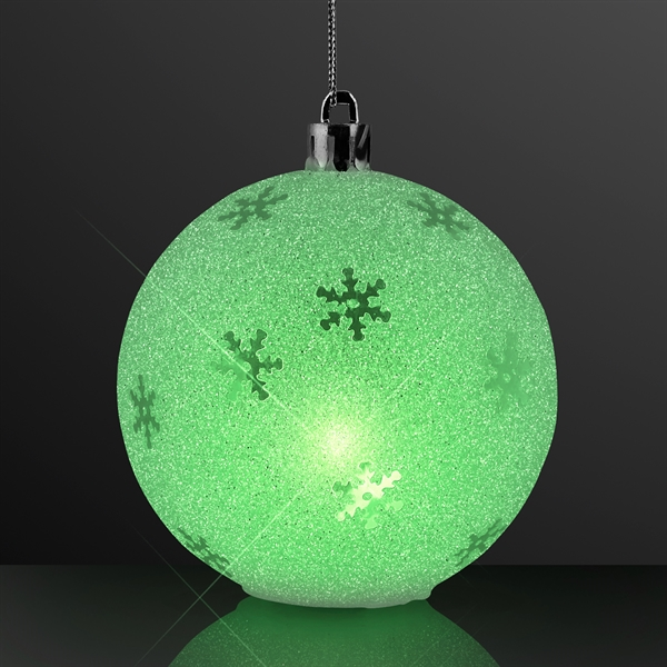 "3.25"" LED Sparkle Snowflake Ornaments, Christmas Decorations"