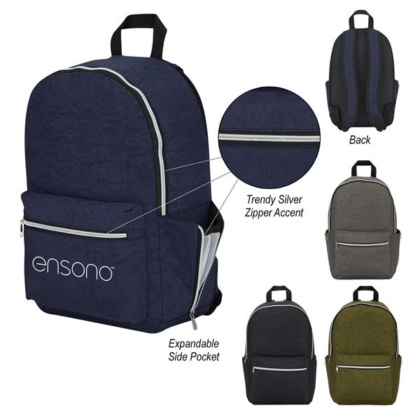 Wrinkled Nylon Backpack
