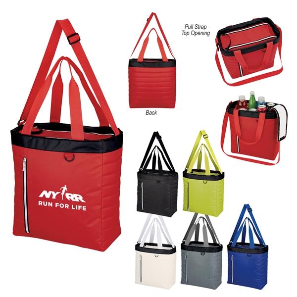 Quilted Slim Line Kooler Tote Bag