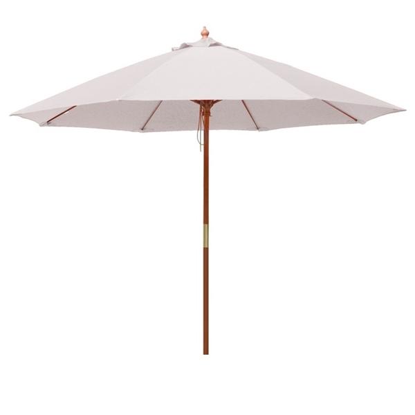 9 ft Rd FR Umbrella, 8 Ribs, Blank