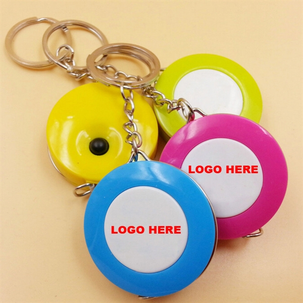 1.5M ABS Mini Round Measure Tape Key Ring Keychain Tape Meas