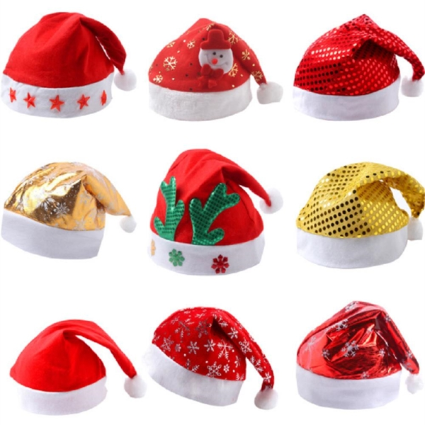 Red Felt Santa Hats