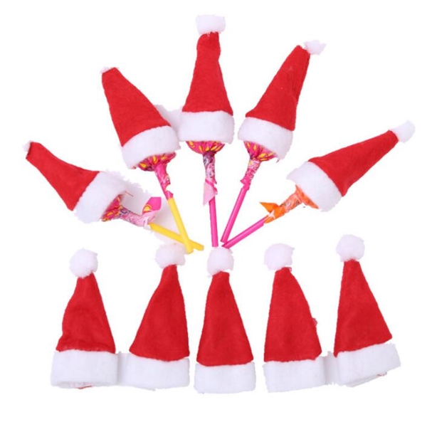 Mini Christmas Hat for Lollipop Candy Cover