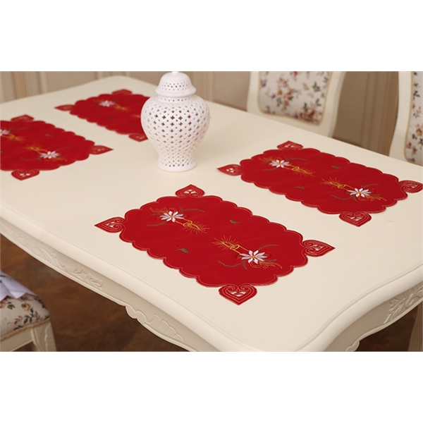 Christmas Embroidered Table Placemats
