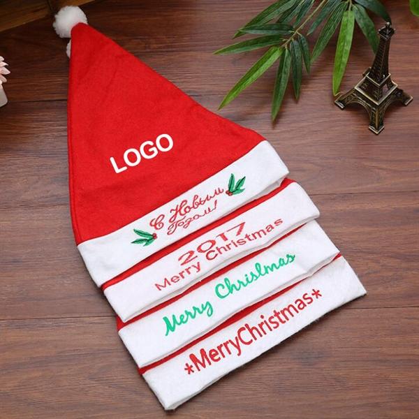 Classic Non-woven Fabrics Santa Hat for Christmas