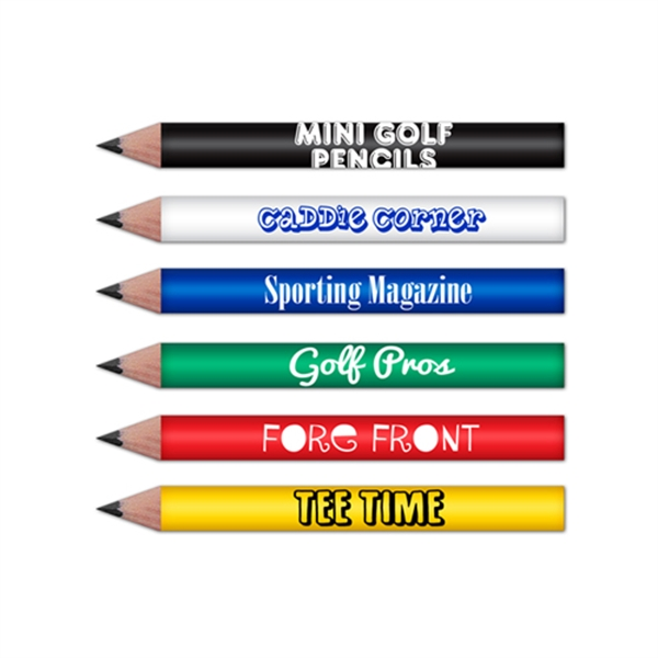 Mini Round Golf Pencils Pre Sharpened