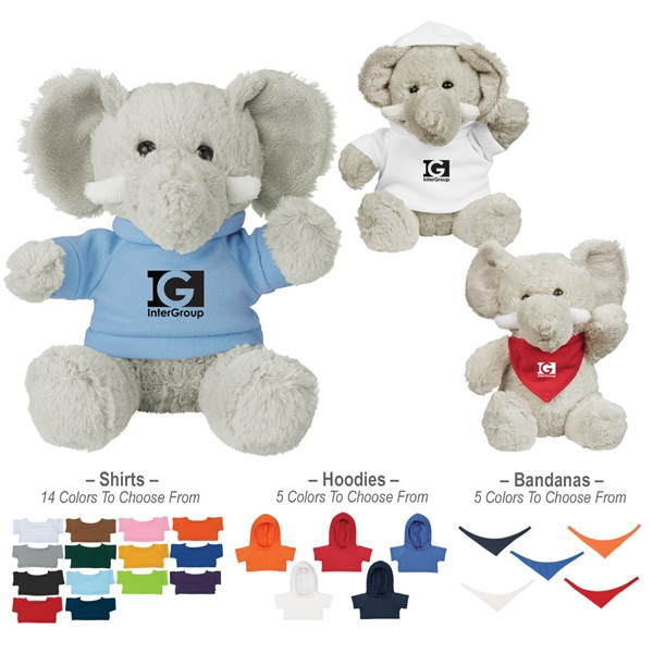 """6"""" Plush Excellent Elephant With Shirt"""