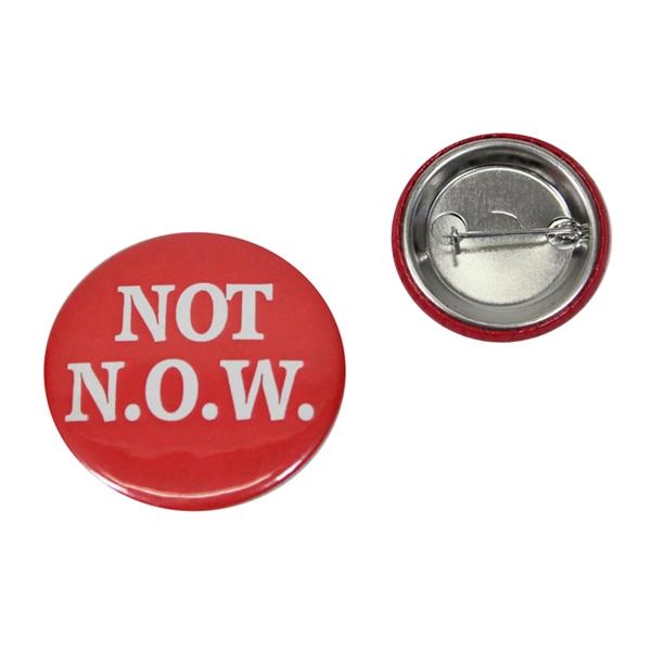 Round tin Button