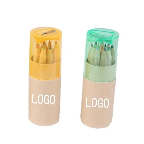 Colored Pencils in Cardboard Tube