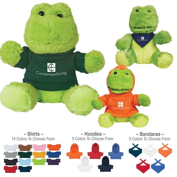 "6"" Plush Fantastic Frog With Shirt"