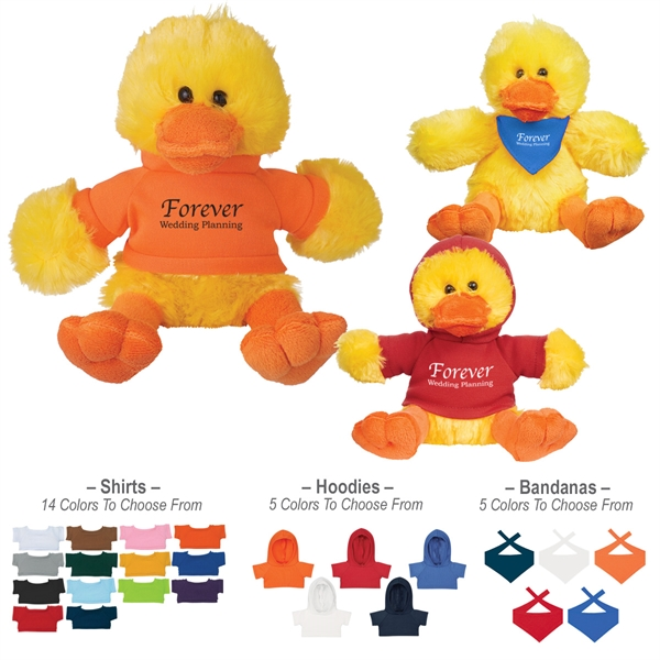 """6"""" Plush Delightful Duck With Shirt"""