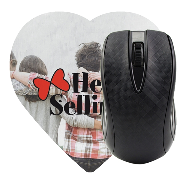 Heart Shaped Computer Mouse Pad - Dye Sublimated