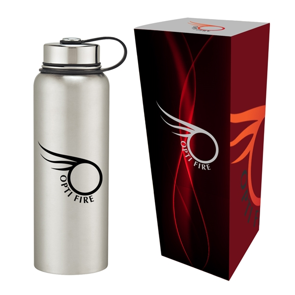 40 Oz. Stainless Steel Invigorate Bottle With Custom Box