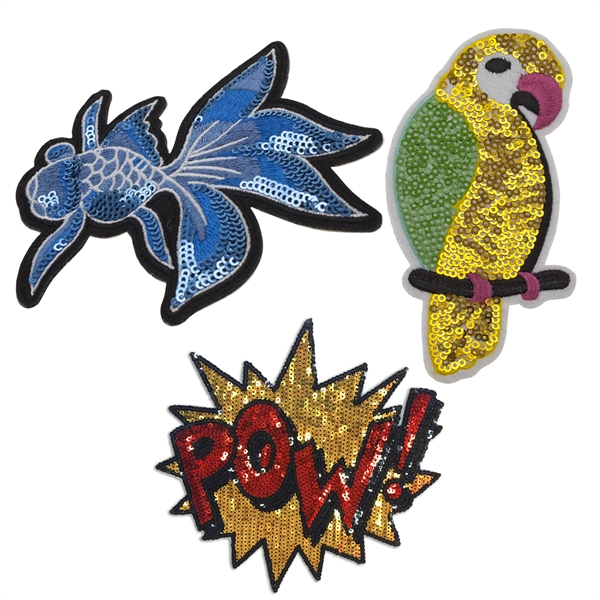 Sequined Embroidered Patches
