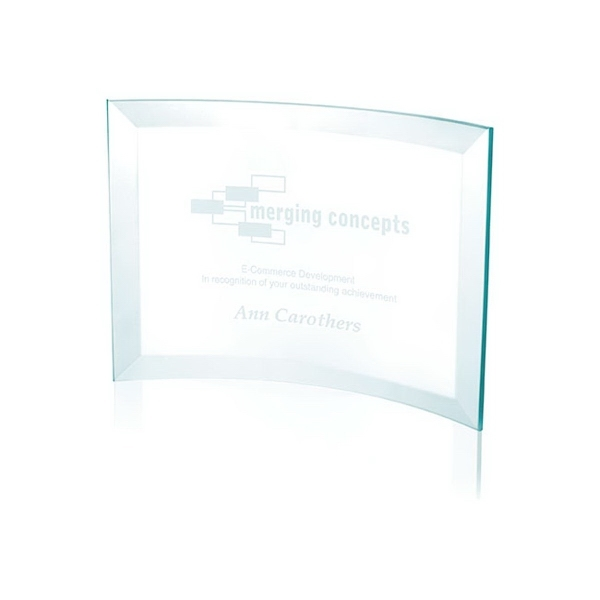 Jade Crystal Scroll Award - Small