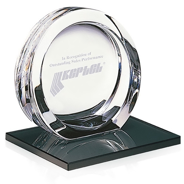 High Tech Award on Black Glass Base - Large