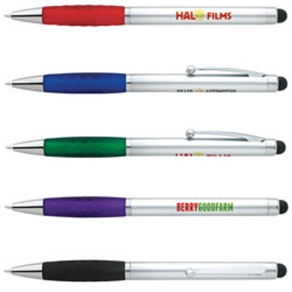 Silver Stylus Grip Pen