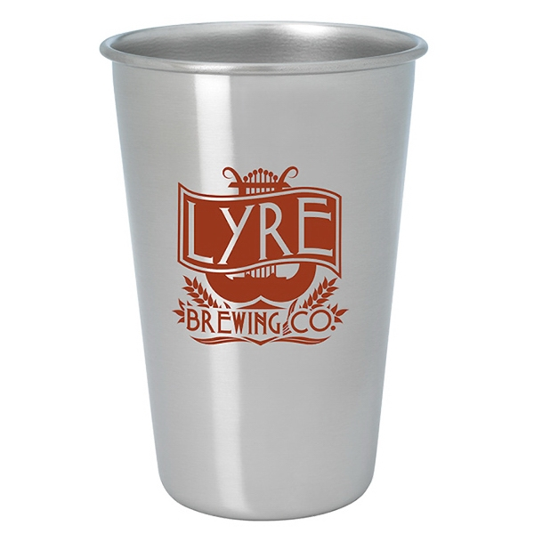 Stainless Pint Glass - 16 oz.