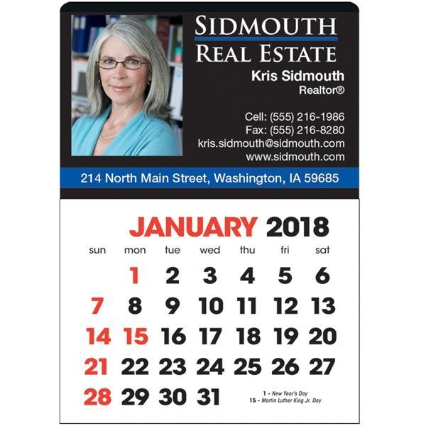 Full Color Stick Up English Grid Calendar