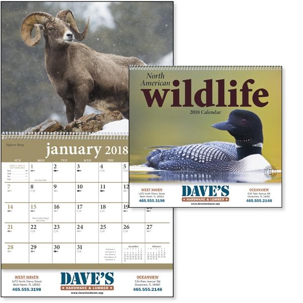 North American Wildlife - Calendar