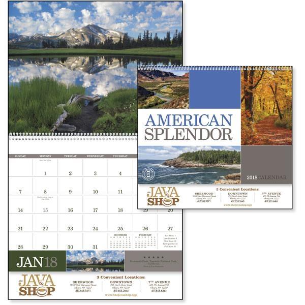 American Splendor Spiral - Calendar
