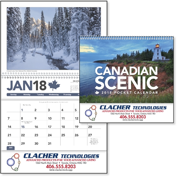 Canadian Scenic Pocket - Calender