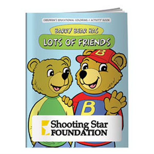Coloring Book: Barry Bear Has Lots of Friends