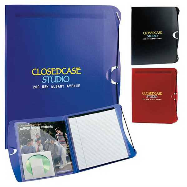 PolyPro Padfolio with Business Card & CD Holder