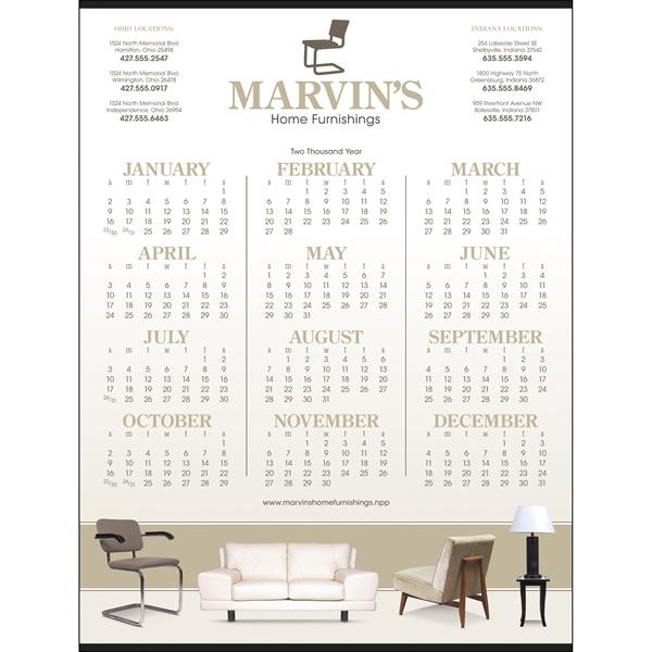 Custom Single-Sheet Span-A-Year Calendar