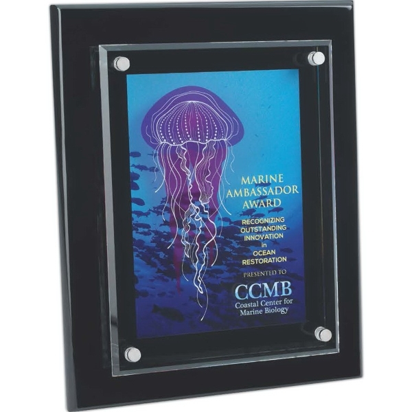 """Floating Glass Plaque - 8""""x10"""""""