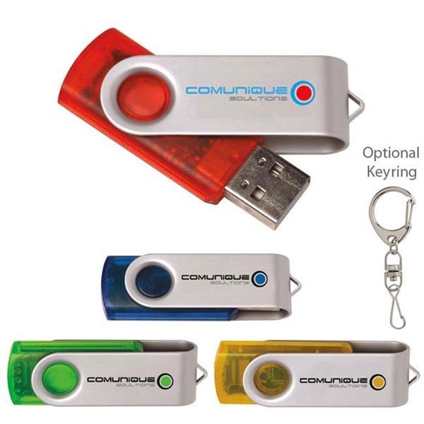 2 GB Translucent Folding USB 2.0 Flash Drive