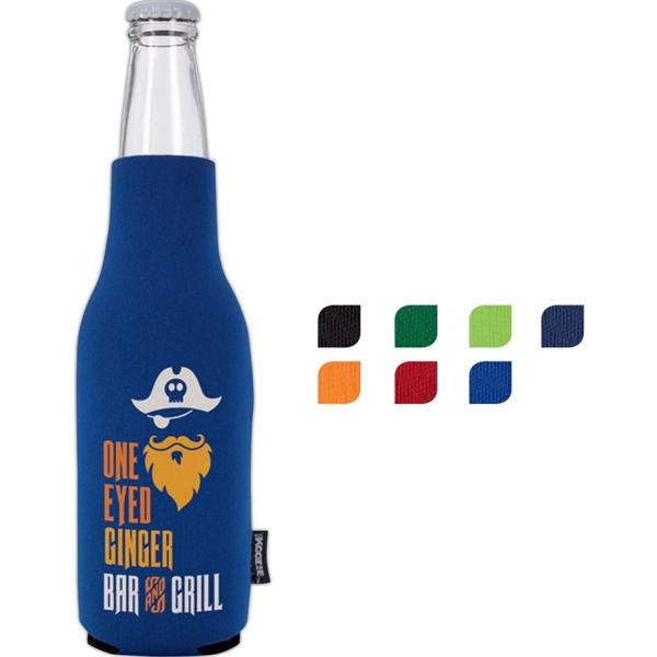 Neoprene Zip-Up Bottle Koozie® Kooler