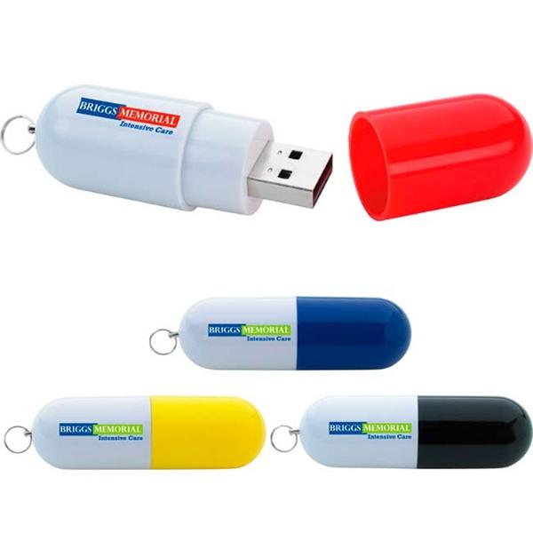 8 GB Capsule USB 2.0 Flash Drive