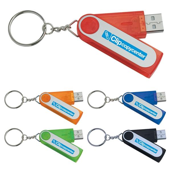 1 GB Folding Keyring USB 2.0 Flash Drive