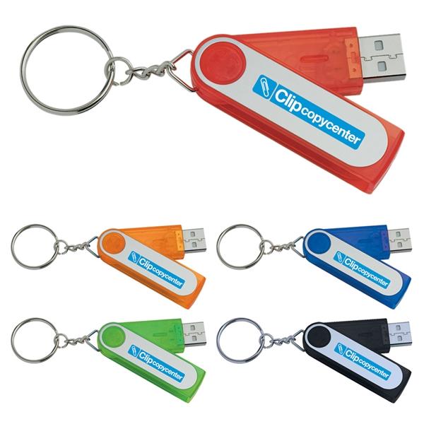 2 GB Folding Keyring USB 2.0 Flash Drive
