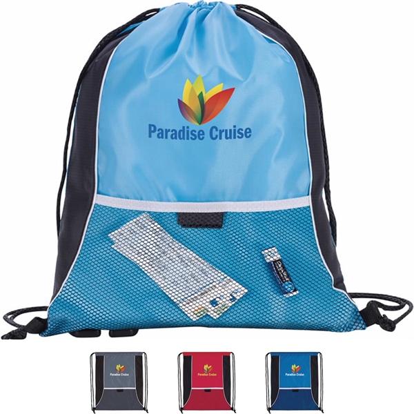 Center Lane Drawstring Backpack