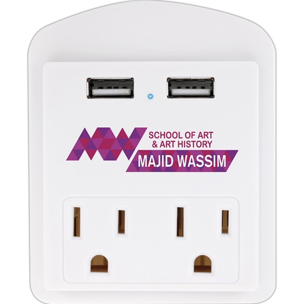 Modern USB Wall Adapter with Phone Holde