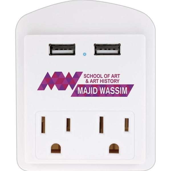 Good Value® Modern USB Wall Adapter with Phone Holder