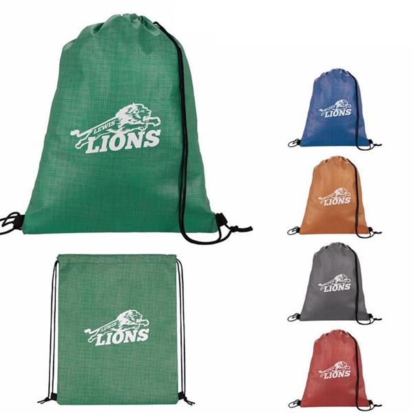Good Value® Non-Woven Shimmer Drawstring Backpack