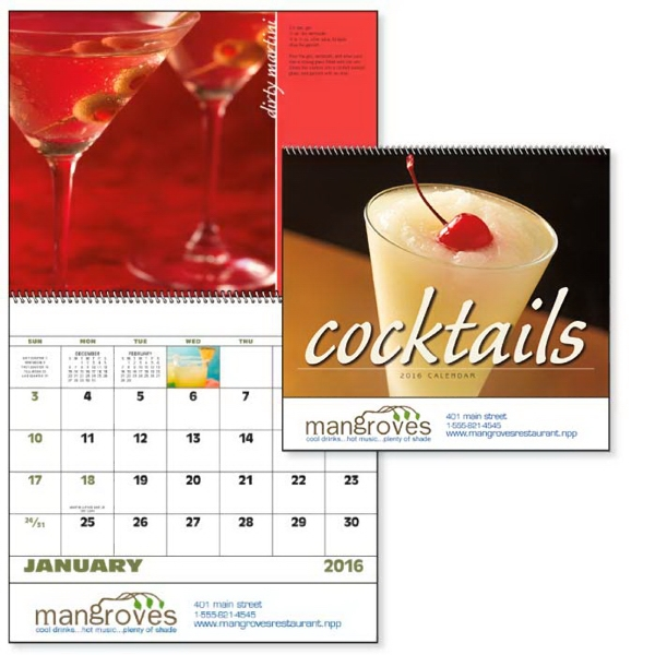 Spiral Cocktails Lifestyle Appointment Calendar
