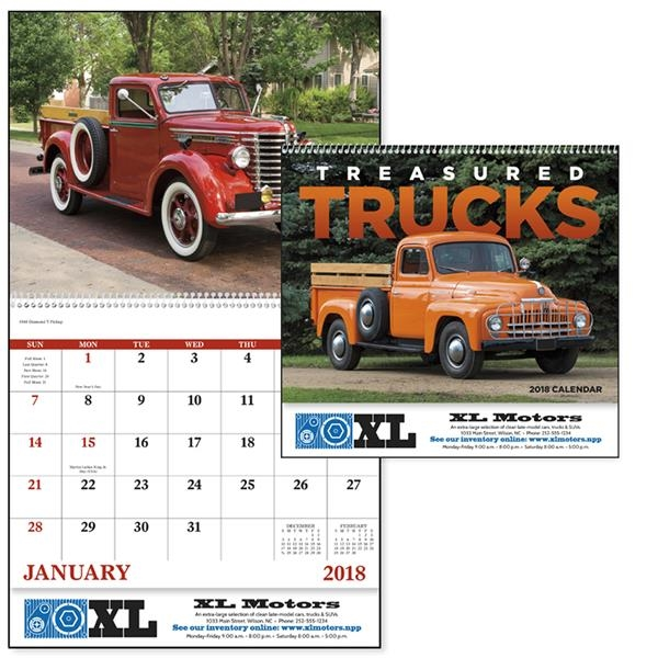Spiral Treasured Trucks Vehicle Appointment Calendar