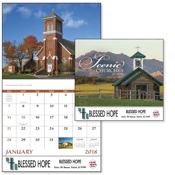 Stapled Churches Scenic Appointment Calendar