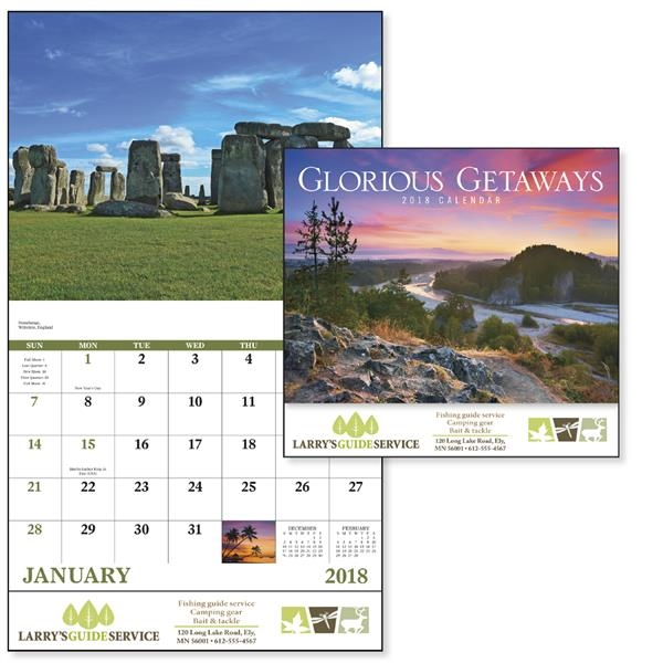 Stapled Glorious Getaways Scenic Appointment Calendar