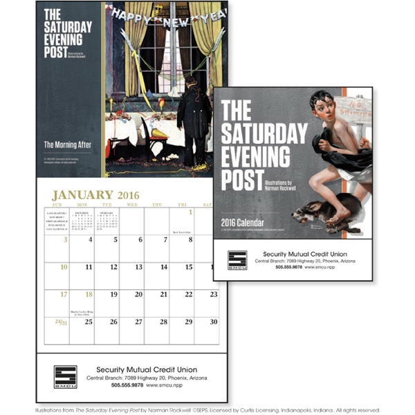 The Saturday Evening Post Mini Appointment Calendar