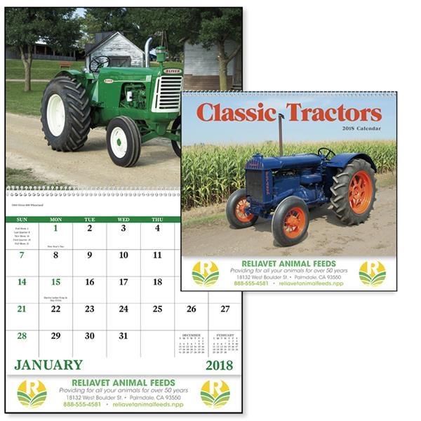 Spiral Classic Tractors Calendar